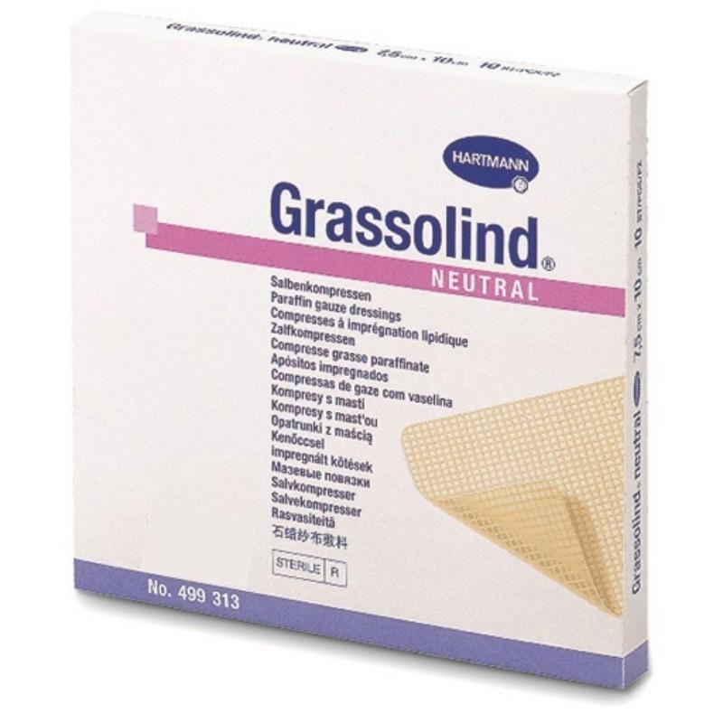 Grassolind - 10 compressas (10 x 10 cm) - comprar Grassolind - 10 compressas (10 x 10 cm) online - Farmácia Barreiros - farmá...