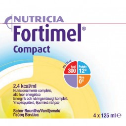 Fortimel Compact Baunilha - 4 x 125 mL - comprar Fortimel Compact Baunilha - 4 x 125 mL online - Farmácia Barreiros - farmáci...