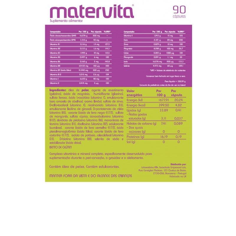 Matervita - 90 cápsulas - comprar Matervita - 90 cápsulas online - Farmácia Barreiros - farmácia de serviço