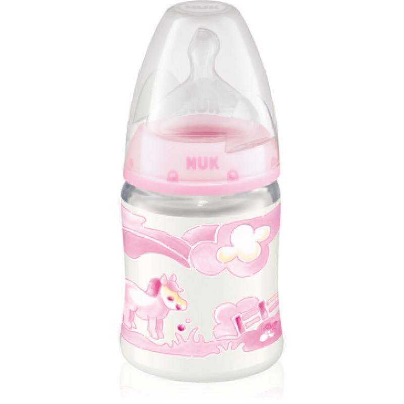 Nuk First Choice Baby Rose Biberão c/ Tetina Anticólica Silicone T1M 0-6M - 1 biberão (150 mL) - comprar Nuk First Choice Bab...