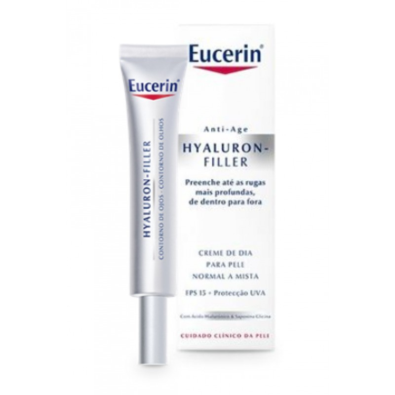 Eucerin Hyaluron-Filler Contorno de Olhos - 15 mL - comprar Eucerin Hyaluron-Filler Contorno de Olhos - 15 mL online - Farmác...