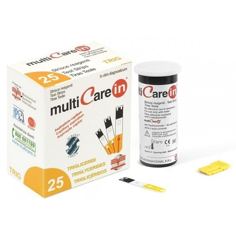 Multicare In Triglicéridos - 25 tiras teste - comprar Multicare In Triglicéridos - 25 tiras teste online - Farmácia Barreiros...