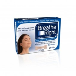 Breathe Right Tiras Nasais Clássicas Tamanho P/M - 30 tiras - comprar Breathe Right Tiras Nasais Clássicas Tamanho P/M - 30 t...