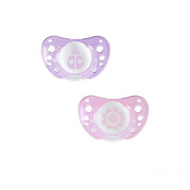 Chicco Physio Air Chupeta Silicone Rosa 0-6M - 2 chupetas - comprar Chicco Physio Air Chupeta Silicone Rosa 0-6M - 2 chupetas...