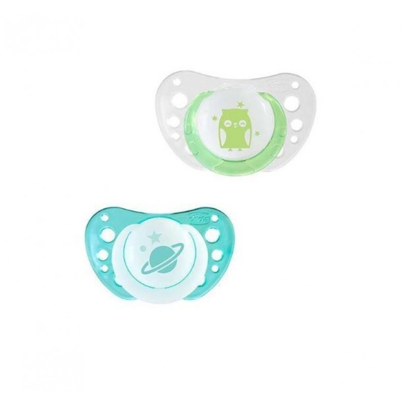 Chicco Physio Air Chupeta Silicone Luminosa 0-6M - 2 chupetas - comprar Chicco Physio Air Chupeta Silicone Luminosa 0-6M - 2 ...