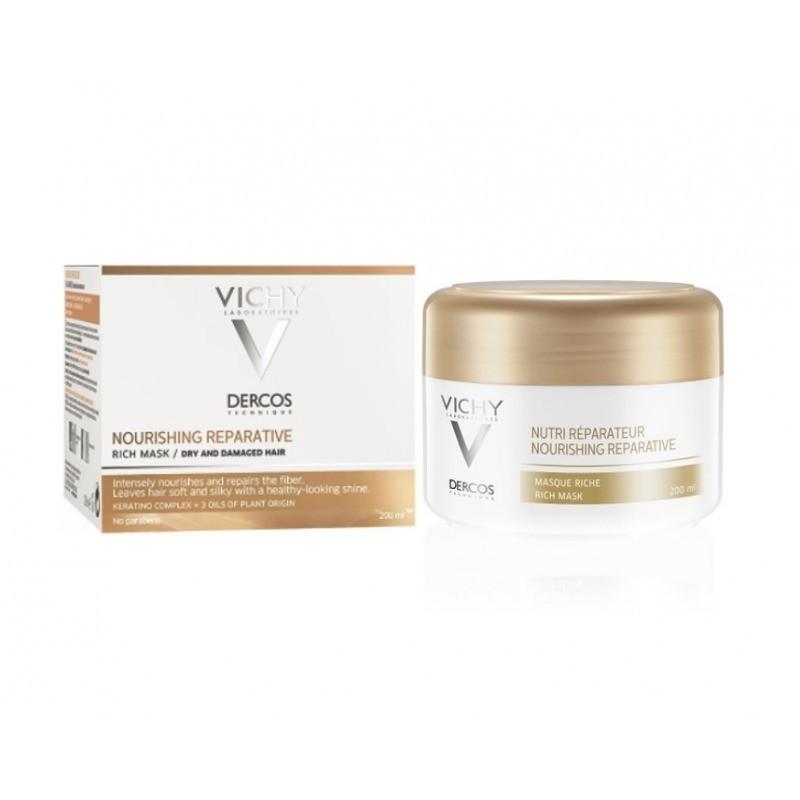 Vichy Dercos Nutri-Reparador Máscara Rica - 200 mL - comprar Vichy Dercos Nutri-Reparador Máscara Rica - 200 mL online - Farm...
