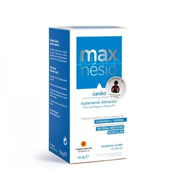 Maxnésio Cardio - 60 cápsulas - comprar Maxnésio Cardio - 60 cápsulas online - Farmácia Barreiros - farmácia de serviço