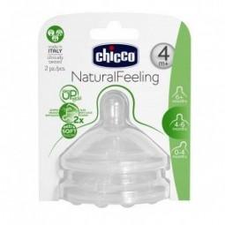 Chicco NaturalFeeling Tetina Silicone 4M+ - 2 tetinas - comprar Chicco NaturalFeeling Tetina Silicone 4M+ - 2 tetinas online ...