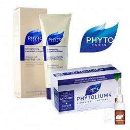 Phyto Phytolium 4 Ampolas Antiqueda c/ Desconto 50% 2º Embalagem - 12 ampolas + 12 ampolas - comprar Phyto Phytolium 4 Ampola...