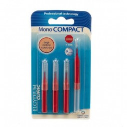 Elgydium Escovilhões Mono Compact Vermelho - 4 escovilhões - comprar Elgydium Escovilhões Mono Compact Vermelho - 4 escovilhõ...
