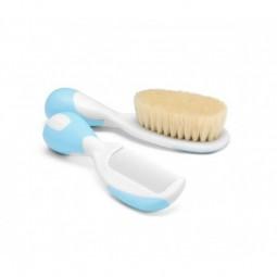 Chicco Escova e Pente Azul - 1 escova + 1 pente - comprar Chicco Escova e Pente Azul - 1 escova + 1 pente online - Farmácia B...