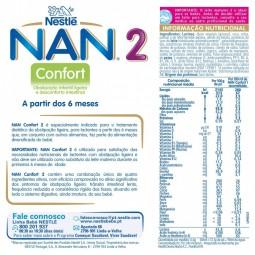 NAN Confort 2 - 800 g - comprar NAN Confort 2 - 800 g online - Farmácia Barreiros - farmácia de serviço