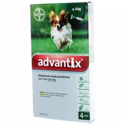 Advantix solução para unção punctiforme para cães até 4 kg - 40/200 mg - comprar Advantix solução para unção punctiforme para...
