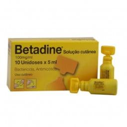 Betadine - 100 mg/mL-5 mL - comprar Betadine - 100 mg/mL-5 mL online - Farmácia Barreiros - farmácia de serviço