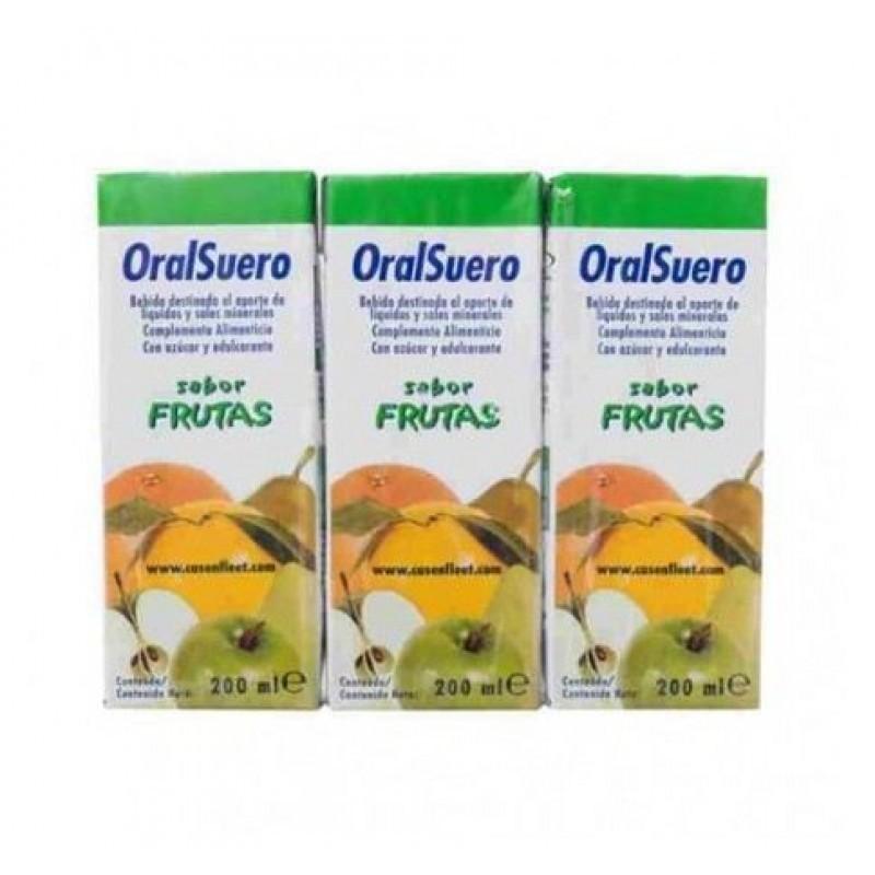 OralSuero Frutas - 3 x 200 mL - comprar OralSuero Frutas - 3 x 200 mL online - Farmácia Barreiros - farmácia de serviço
